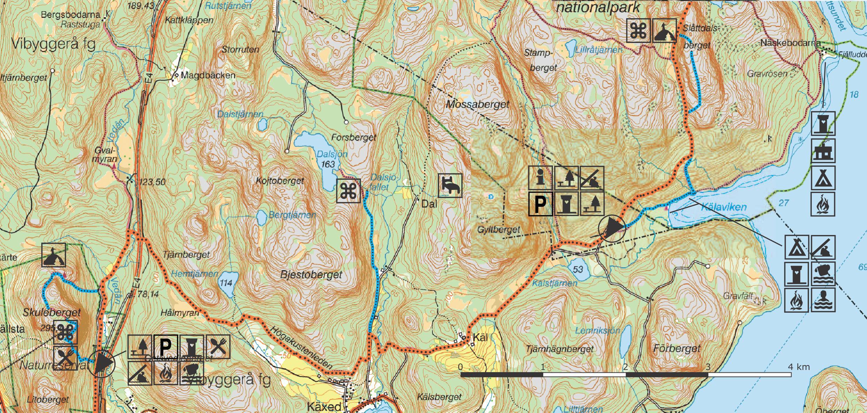 karta skuleskogen Section 8 | Höga Kusten karta skuleskogen