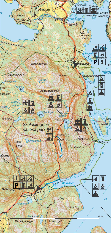 karta skuleskogen Section 9 | Höga Kusten karta skuleskogen